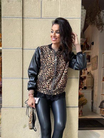 Chaqueta de leopardo Harley