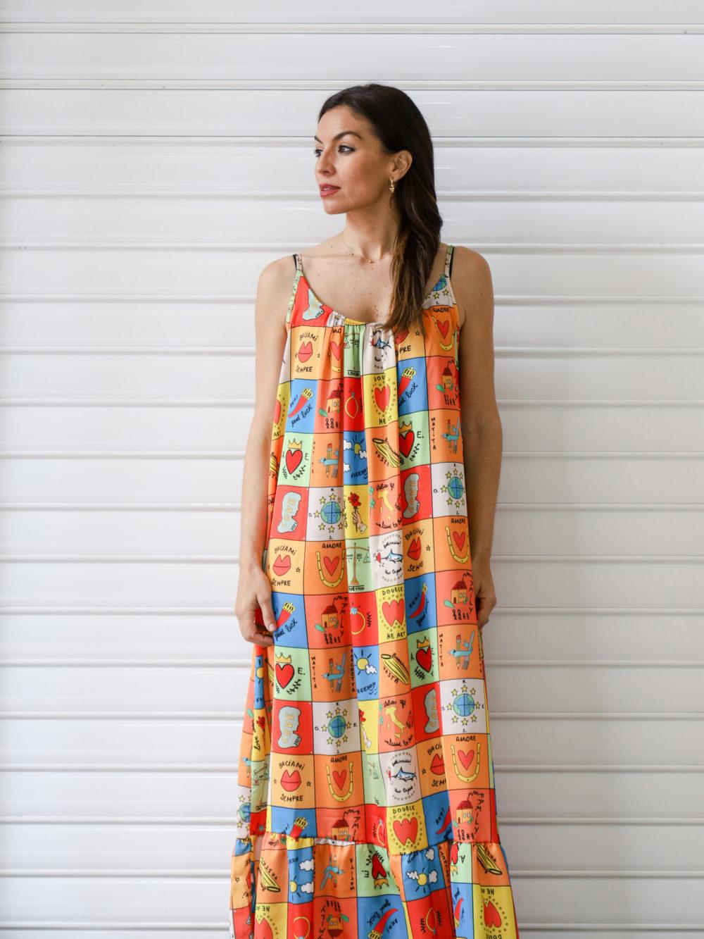 Vestido multicolor estilo Agatha