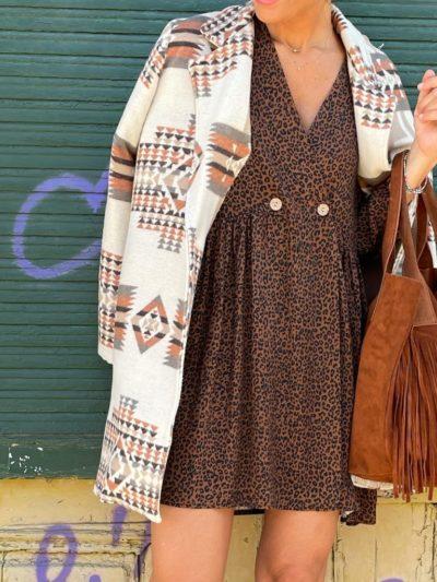 Chaqueta de lana étnica