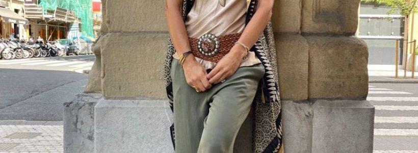 Pantalón kaki de algodón