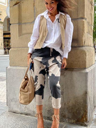 Pantalón camuflaje de algodón